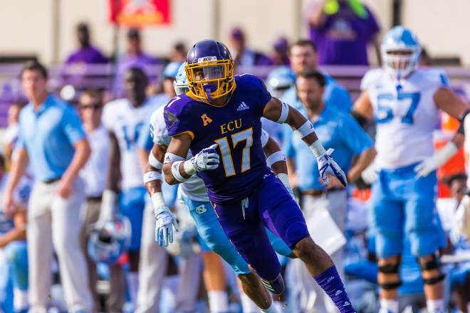 ECU secondary defender Warren Saba has the ability to play at field corner or at linebacker and says that so far he is enjoying the Pirate football system under new head coach Mike Houston.
