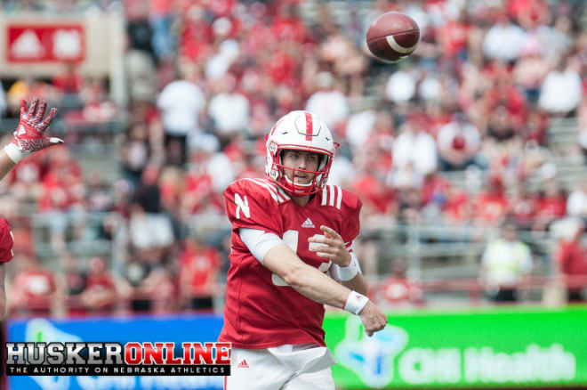 "Nebraska held its first live scrimmage of fall camp on Saturday, and it was a ""mixed bag"" on both sides of the ball."