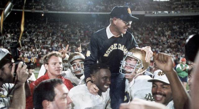 Former Notre Dame head coach Lou Holtz