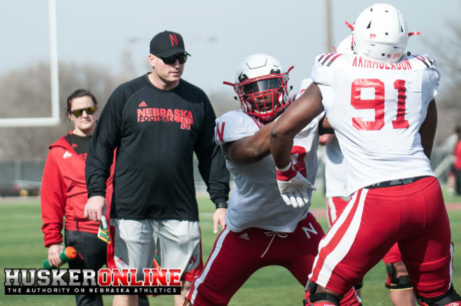DL Coach John Parella and DL Daishon Neal and Freedom Akinmoladun