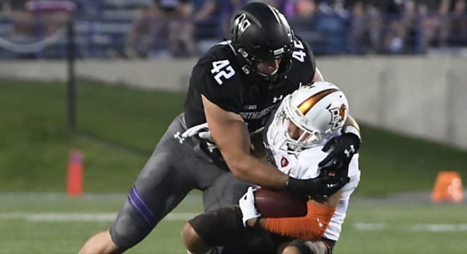 No player in the Big Ten has racked up more tackles over the past two seasons than Northwestern linebacker Paddy Fisher (227).
