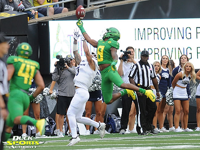 Jevon Holland's heady, ball-hawking play in the secondary gives the Oregon defense a fierce stopper at the back end who specializes in turning the football around.
