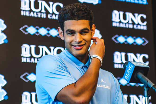 UNC junior Chazz Surratt had some fun Tuesday evening talking about taking on his brother and Wake Forest on Friday night.