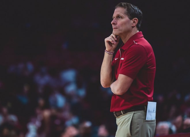 Eric Musselman is in his first season as Arkansas' head coach.