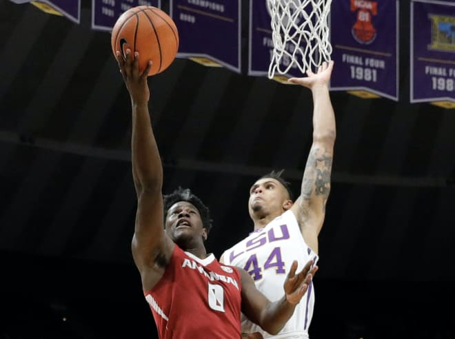 Waters leads LSU over Arkansas, 94-86