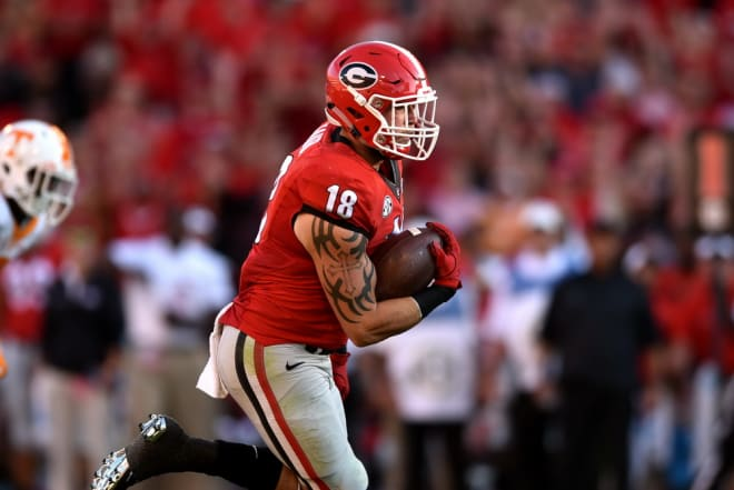 """Albeit resulting in a loss, the recently departed Isaac Nauta says his 50-yard touchdown reception against Tennessee in 2016—his first touchdown as a Bulldog—was his """"favorite moment"""" while playing for Georgia."""