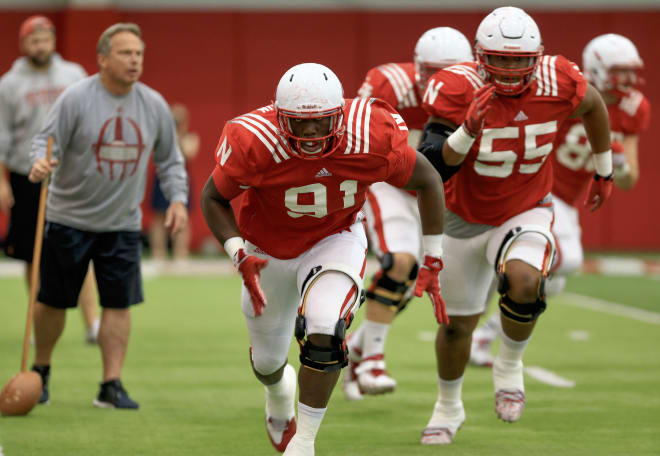 The Huskers need Freedom Akinmoladun (91) and Kevin Maurice (55) to step forward in 2016.
