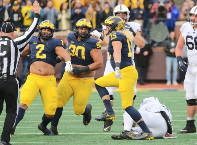 No. 2 Michigan beats No. 21 Indiana to improve to 15-0
