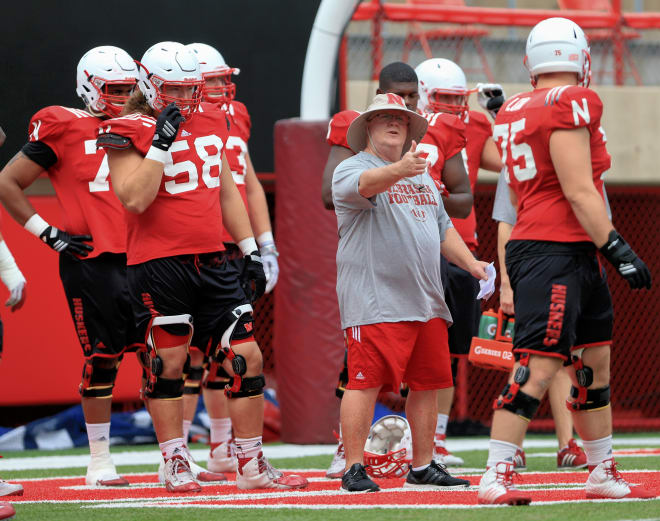 Mike Cavanaugh is entering his second season as Nebraska's offensive line coach.