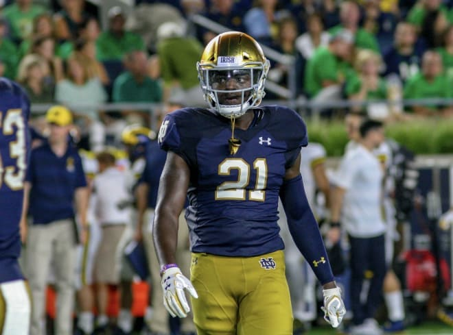Senior safety Jalen Elliott has become an Iron Man — and play-making figure — for the Irish defense.