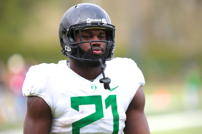 Running back Royce Freeman hopes to have a big season in Willie Taggart's offense in 2017.