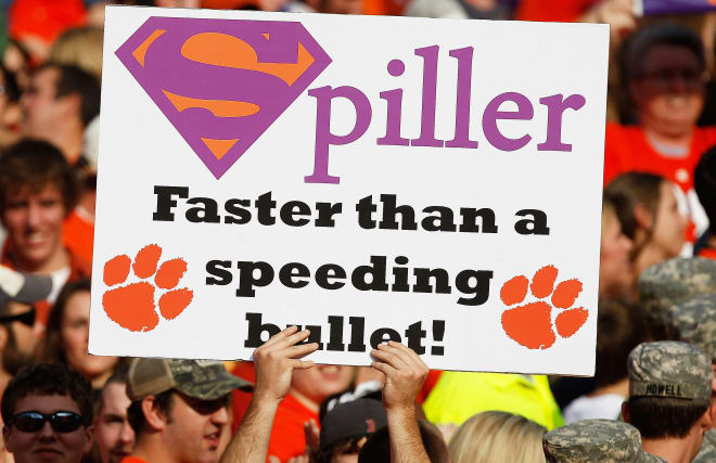 C.J. Spiller, a 5-star, was rated by Rivals.com as the nation's No. 1 all-purpose back recruit in the winter of 2005-06.