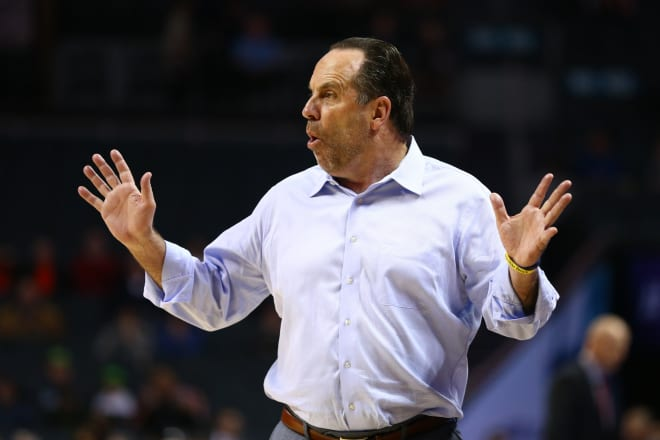 Notre Dame coach Mike Brey and the Fighting Irish finished the 2018-19 season at 14-19 overall.