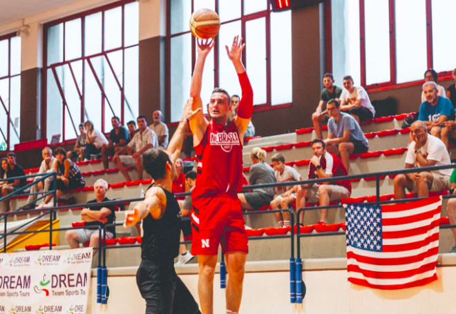 Senior grad transfer Matej Kavas was the lone Husker to start all four games in Italy.