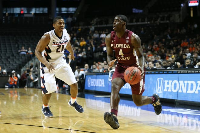 Dwayne Bacon scored 17 points Friday to lead the FSU men past Illinois, 72-61.