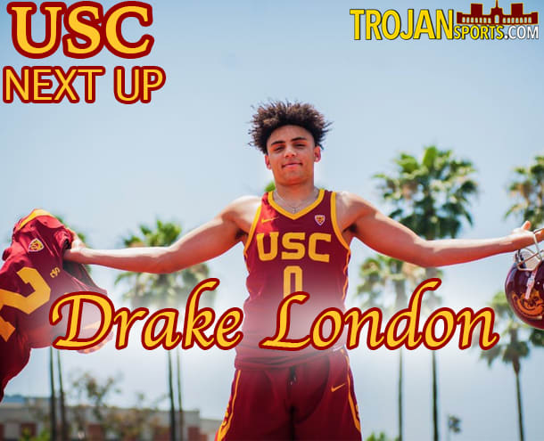 USC freshman Drake London will look to make his mark in both football and basketball for the Trojans.