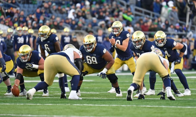Notre Dame's offense got rolling against Navy in a 52-20 win.