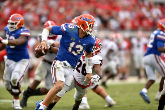 Quarterback Feleipe Franks, along with head coach Jim McElwain, were among a few Gators who discussed Georgia's dominant performance over their team.