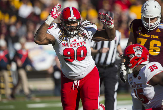 NC State redshirt freshman defensive tackle Shug Frazier had three tackles and half a sack Friday during the 52-31 win over Arizona State in the Sun Bowl.