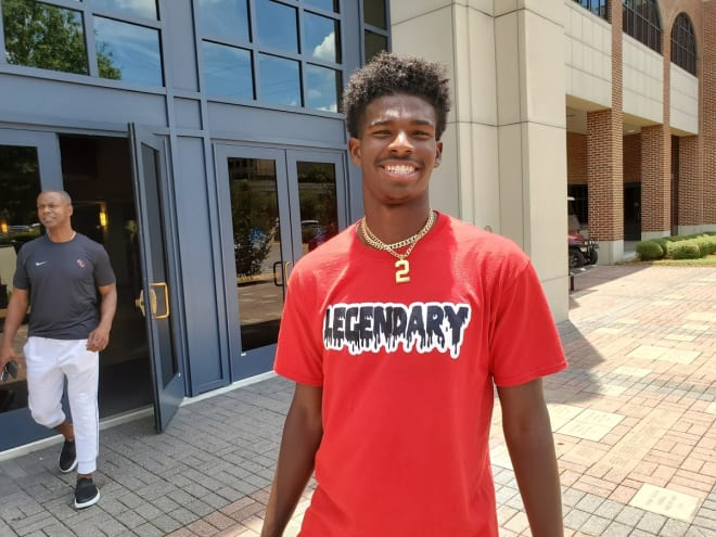 QB Shedeur Sanders, a 2021 prospect and the son of FSU and NFL legend Deion Sanders, arrived for this weekend on Thursday.