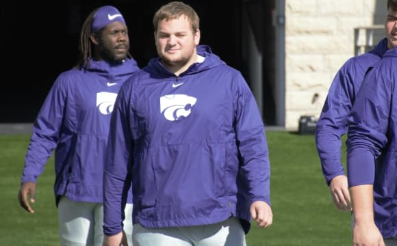 Kansas State offensive lineman Cooper Beebe