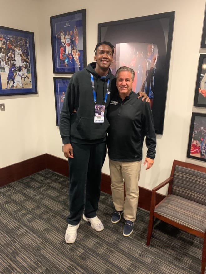 Shawn Phillips with John Calipari at the Blue-White Game