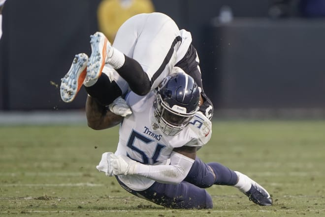 Former West Virginia Mountaineers linebacker David Long recorded four tackles against the Raiders.