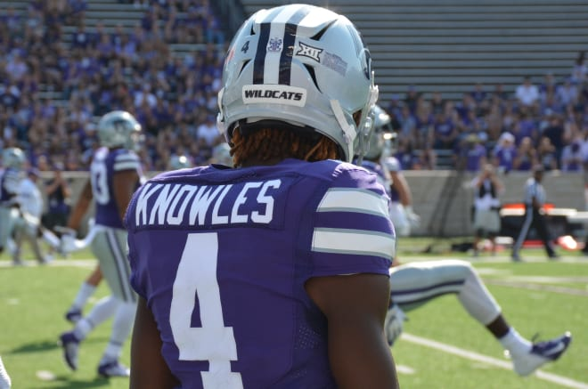 Malik Knowles' beautiful 38-yard touchdown catch put K-State up 38-0 in the first half.