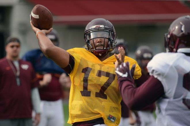 Redshirt freshman Josh Jackson named Hokies' starting QB