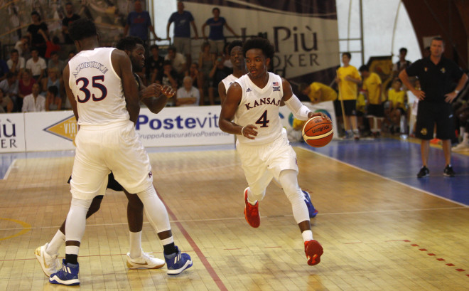 KU starts Italy tour with a 90-56 win