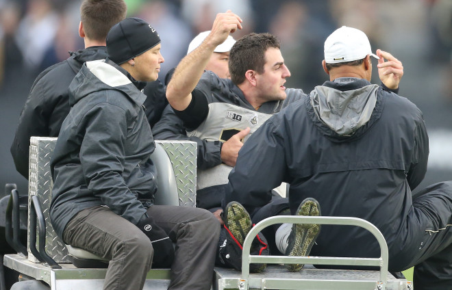 Purdue QB David Blough suffers dislocated ankle, ending season