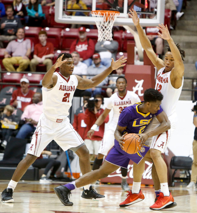 Alabama Men's Basketball Cruises Past LSU, 90-72, Saturday Afternoon