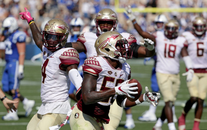 Jimbo Fisher Yells Back at Angry Fan After FSU's Loss vs. Louisville