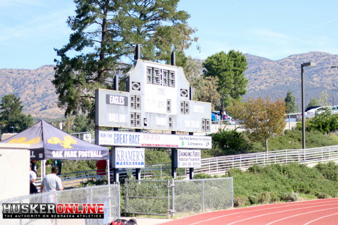 Calabasas High held its satellite camp at Oak Park High due to brush fires around the original location