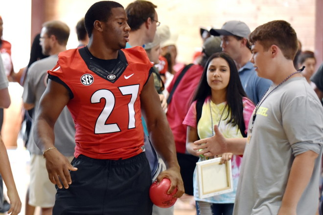 Chubb played dodgeball as well. You can watch him in the video below.