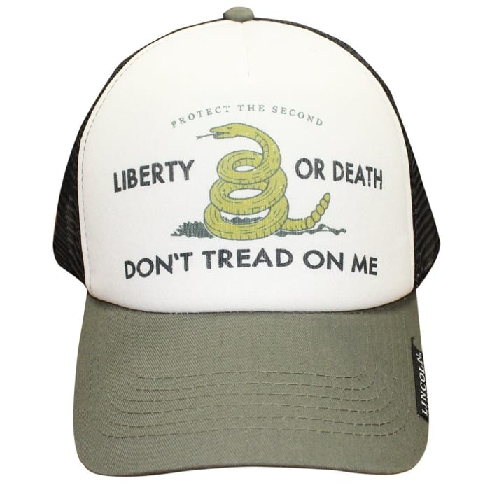 ecabf99f237 Lincoln Outfitters Don t Tread On Me Trucker Cap LOCAP-128