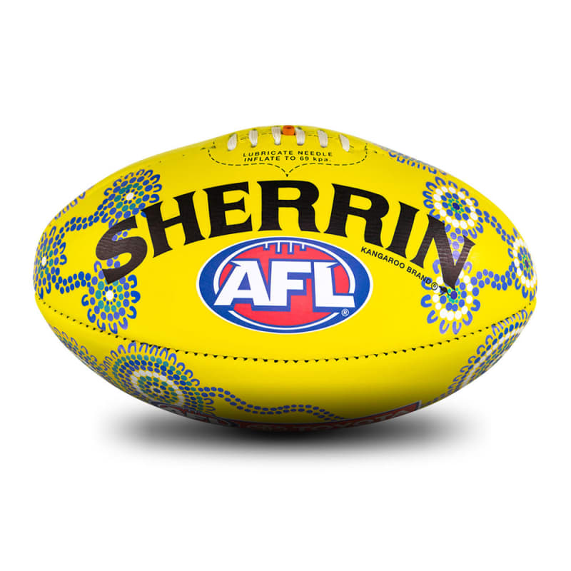 Sir Doug Nicholls Round Game Ball - Yellow