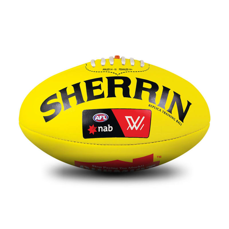 AFLW Replica Training Ball - Yellow - Size 4