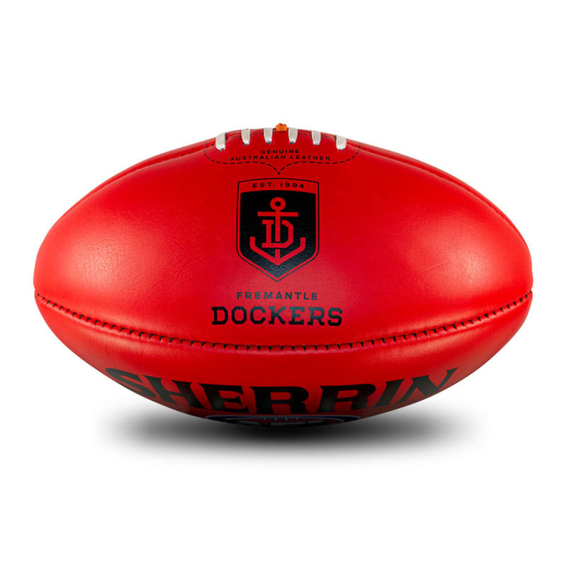 AFL Team Leather Ball - Fremantle