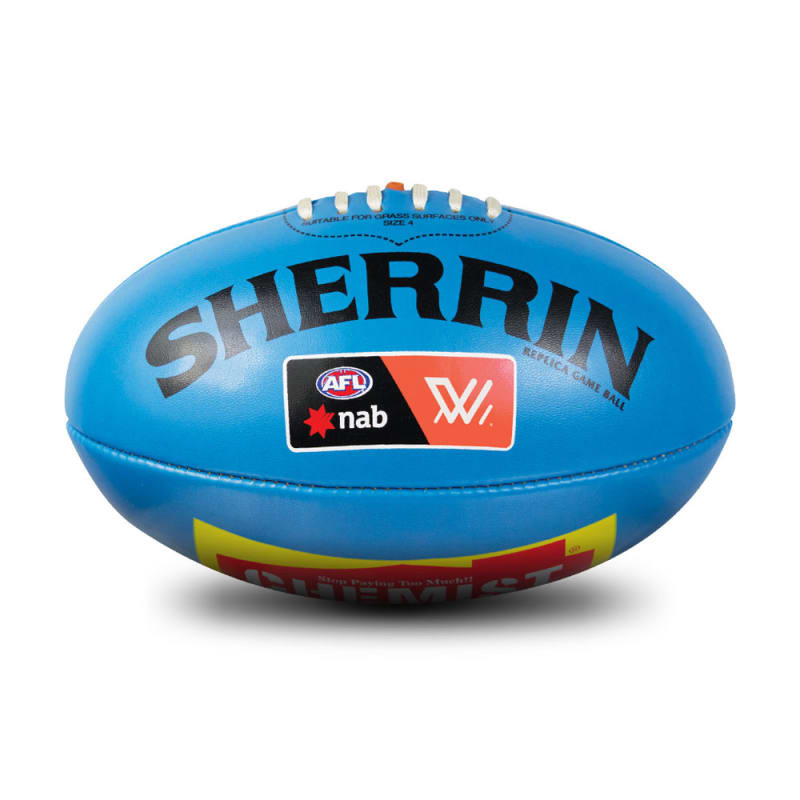 AFLW Replica PVC Ball - Blue