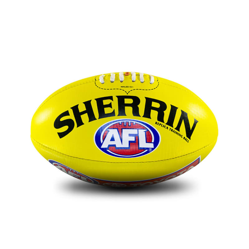 AFL Replica Training Ball - Yellow - Size 2