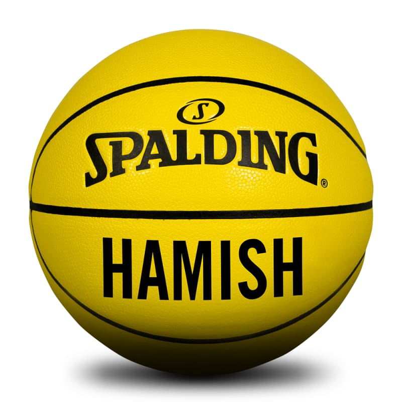 Personalised Basketball - Yellow