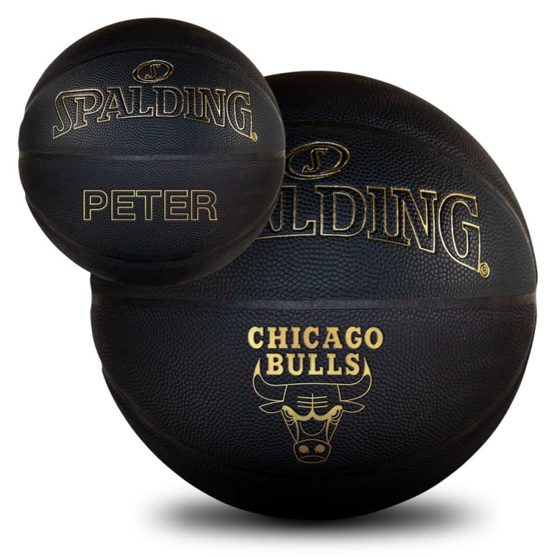 Personalised NBA Team Basketball - Black & Gold