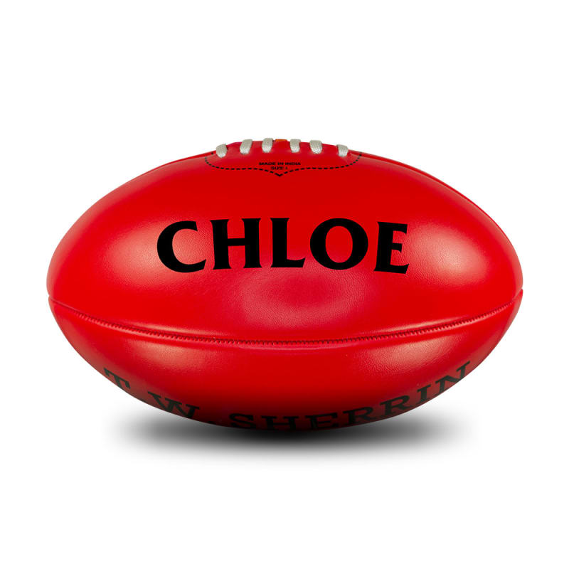 Personalised Red Football - Size 4