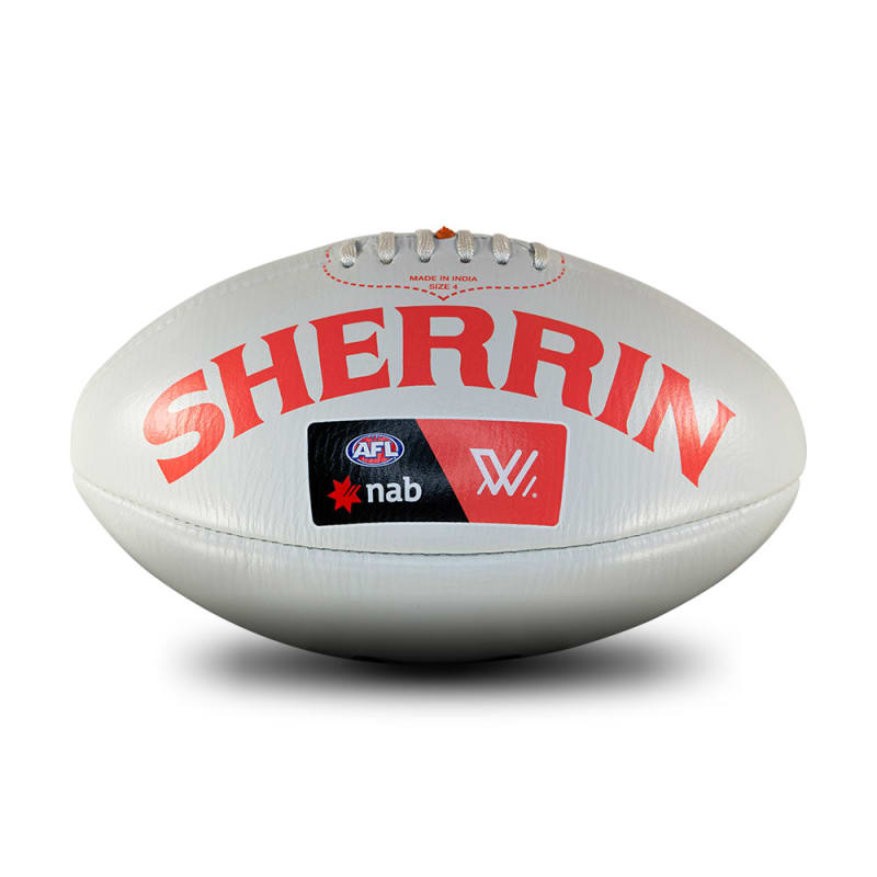 AFLW Replica Training Ball - Grey - Size 4