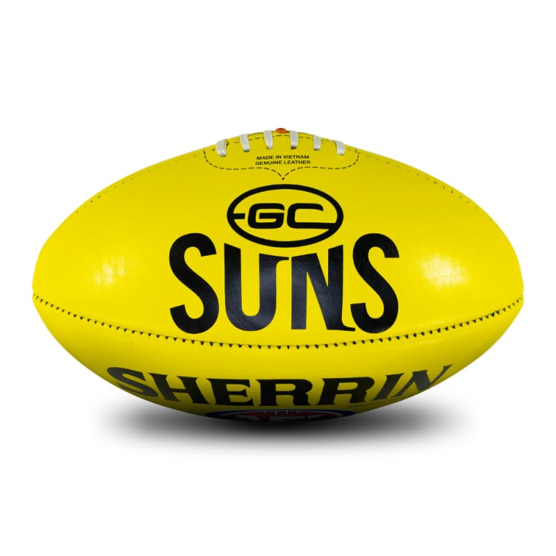 AFL Team Leather Ball - Gold Coast Suns