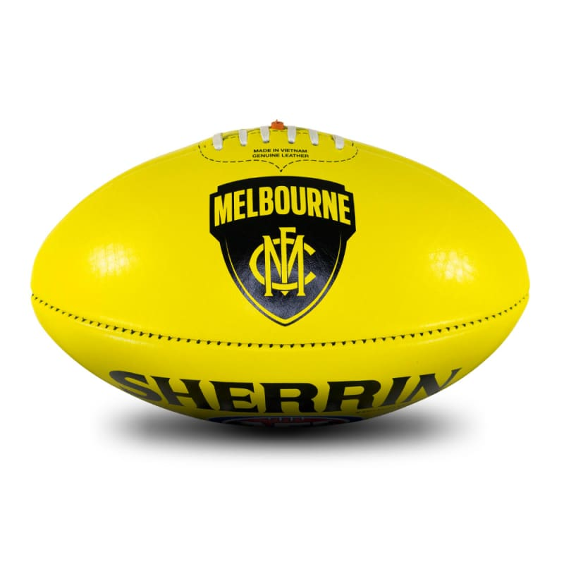 AFL Team Leather Ball - Melbourne