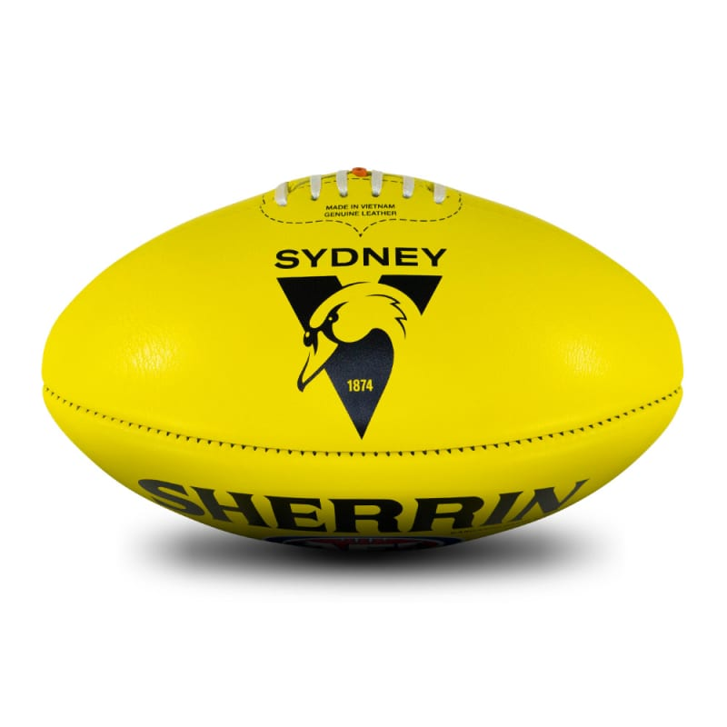 AFL Team Leather Ball - Sydney