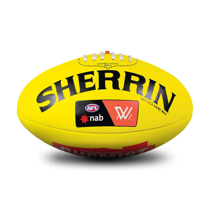 AFLW Replica Game Ball - Yellow
