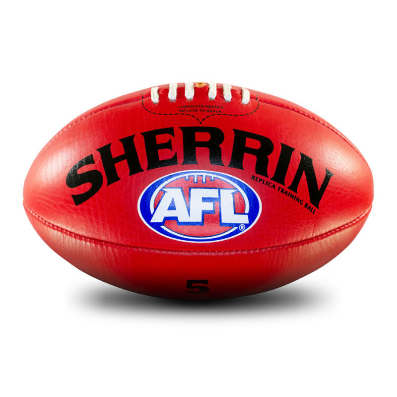 AFL Replica Training Ball - Red - Size 5